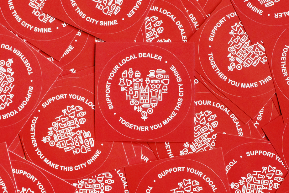 "topographic Sticker ""Support Your Local Dealer"""