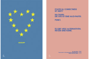 topographic Illustration Poster Europawahl 2019